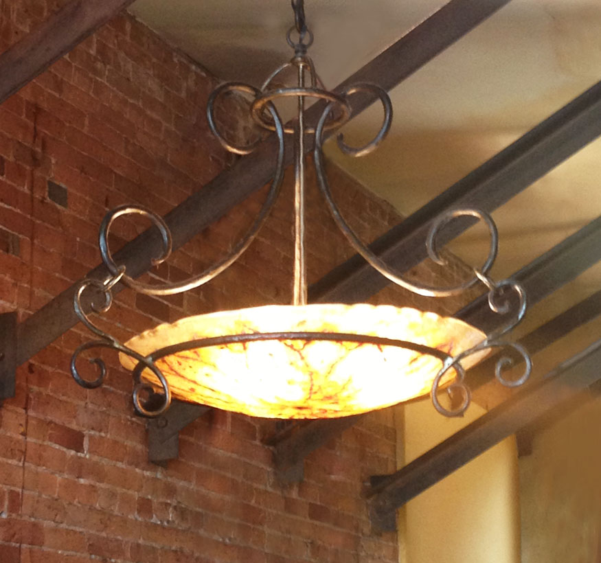 Ironwood Designs: Photo gallery of hand crafted metal lighting fixtures